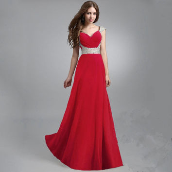 Hot Sale Stylish Mosaic Slim Prom Dress Ball Gown One Piece Dress [4918232004]