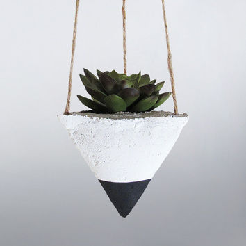 Air Planter, Hanging Planter, Succulent Planter, Concrete Planter, Modern Planter, Geometric Planter, White Planter, Mini Planter, Black