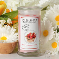 Freshly Picked Strawberries Ring Candle