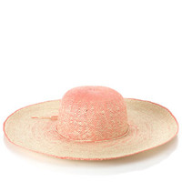 Ombre Crown Weave Floppy Hat | Pink | Accessorize
