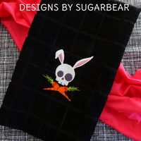 Gothic SKULL BUNNY Easter ToWELS UniQUe BOUTiQuE Designs by Sugarbear Not your Mama's EASTeR DeCoR! SaY it WiTH YoUR OWn STyLE!