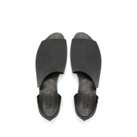 SALE 15% OFF ,Black asymmetrical summer shoes