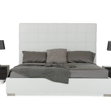 Modrest Francis - Modern White Leatherette Bed