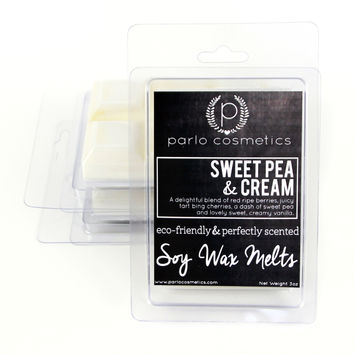 Sweet Pea and Cream - Natural Soy Wax Melts