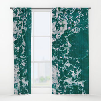 Emerald Waters Window Curtains by ARTbyJWP