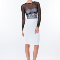 One-Two Punch Sheer Mesh Top Dress