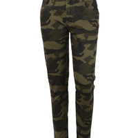 LE3NO Mens Camo Print Skinny Jeans with Stretch (CLEARANCE)