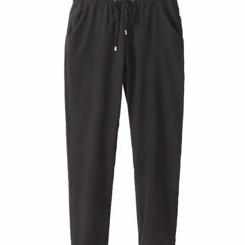 Business Casual Harem Pants - Black