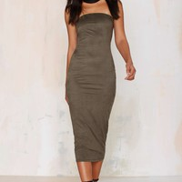 Lexia Strapless Midi Dress