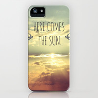 Here Comes The Sun iPhone Case by Sabine Doberer | Society6