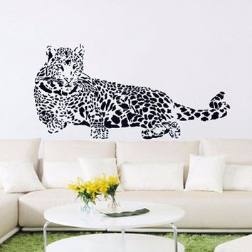 Huge Cheetah Leopard Jaguar Cat Wall Mural Vinyl Decal wall sticker