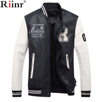 New Fashion Jackets Man Casual Solid Color Coats Black Spring Autumn Male Jacket Waterproof Outerwear