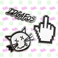 IDGAFOS ENAMEL PIN SET