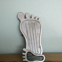 "1970s vintage Cal Custom Big foot surfer gas pedal with matching dimmer pedal, 9"" foot pedal, Hot rods"