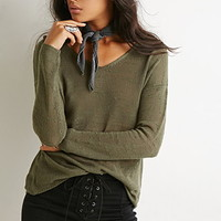 Textured Slub Knit Sweater