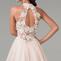 Short Lace Party Dress by Dave and Johnny