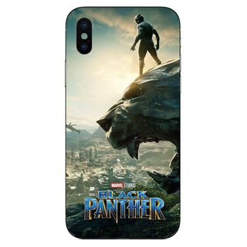 Black Panther (Movie Poster) TPU+PC Case for Apple Iphone X (10)