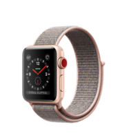 Apple Watch - Gold Aluminum Case with Pink Sand Sport Loop