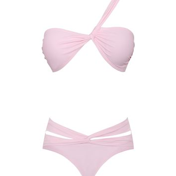 Rhodes Pink Wrap Two Piece Swimsuit