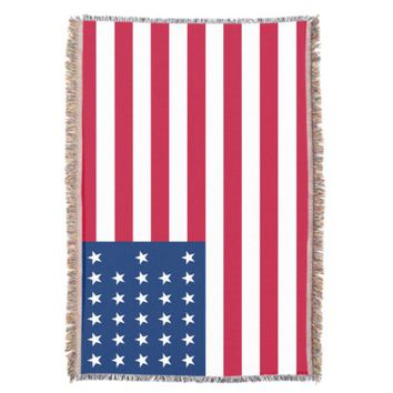 American Flag Patriotic Throw Blanket