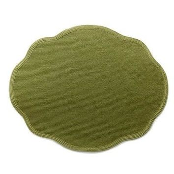 Oval Scallop Placemat S/2 | 60 Colors