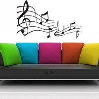 Music Notes Vinyl Wall Decal Sticker Graphic | masterdesigndecals - Housewares on ArtFire