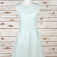 Seersucker Dress - Mint
