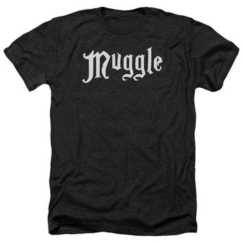 Harry Potter - Muggle Adult Heather Officially Licensed T-Shirt Short Sleeve Shirt