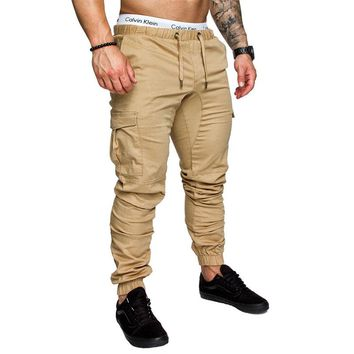2018 Brand Men's Pants Hip Hop Harem Joggers Pants Male Trousers Men Joggers Solid Multi-pocket Pants Elastic Waist Sweatpants