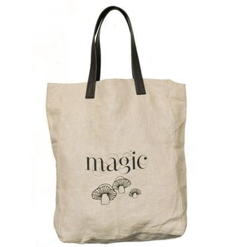 Magic Mushrooms Linen Tote