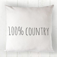 100% Country Pillow Cover - Shabby Chic Pillow, Farmhouse Pillow, Country Decor, Patriotic Decor, Southern Decor 16 x 16, 18 x 18, 20 x 20