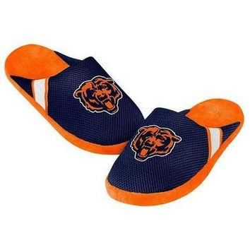 NFL Chicago Bears Jersey Slippers [Men's Small - Size 7-8 US]