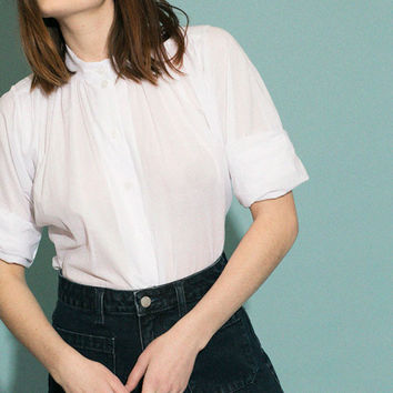 No.6 - White Quinn Field Blouse | BONA DRAG