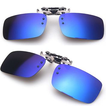 Unisex Polarized Clip On Sunglasses Driving Night Vision Lens Anti-UVA Anti-UVB Cycling RRiding Sunglasses Clip Pesca Accessory