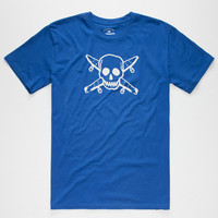 Fourstar Street Pirate Mens T-Shirt Royal  In Sizes