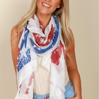 Country Strong Flag Scarf
