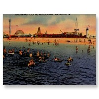Pontchartrain Beach & Amusement Park Post Cards from Zazzle.com