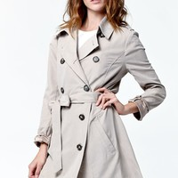 Jack by BB Dakota Hopper Drapey Trench Coat - Womens Jacket - Wheat