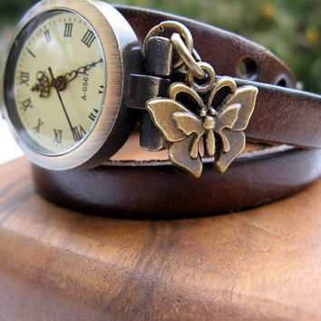 Sale  Wrap Around Chocolate Brown Leather Wrap by ArtInspiredGifts