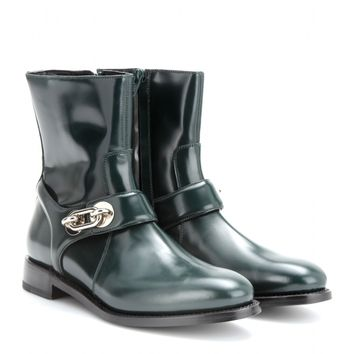 balenciaga - polished-leather ankle boots