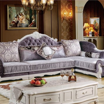2016 Hot Sale Bean Bag Chair Sectional Sofa Beanbag Home Furniture Sofa Set Living Room With Solid Rubber Carving French Style