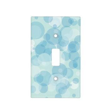 Blue Bubbles Switch Plate Cover