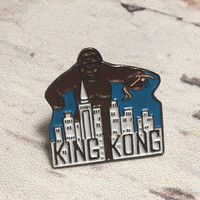 King Kong Pin . Vintage Enamel Badge .