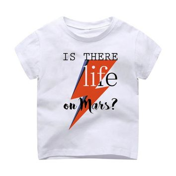 T-Shirt Children Modal Printing Kids Clothes Short Sleeves t shirt tshirt David Bowie Harajuku hipster kawaii