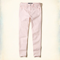 Girls Hollister High-Rise Crop Super Skinny Jeans | Girls Bottoms | HollisterCo.com
