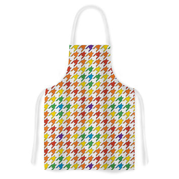 "Empire Ruhl ""Rainbow Houndstooth"" Artistic Apron"