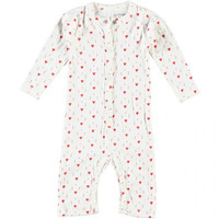 Organic Cotton Hearts Baby Romper