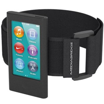 Armband for iPod Nano - 7th Generation / 8th Generation ( Black ) - Model AB1 by Mediabridge (Part# AB1-IPN7-BLACK )