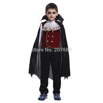 Boys kids Child Vampire Halloween Costume,Gothic/Dracula Vampire