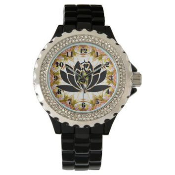 Lotus Chakra-O-Clock Rhinestone Watch